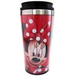 Disney Minnie Mouse Red Polka Dots Travel Mug