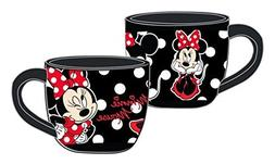 Disney Minnie Solo Filigree Cafe Mug Black Red
