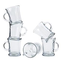 Anchor Hocking Mocha Glass Coffee Mugs, 14 oz
