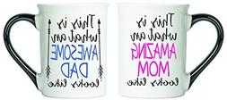 Tumbleweed Amazing Mom And Awesome Dad Coffee Mugs - Mom And
