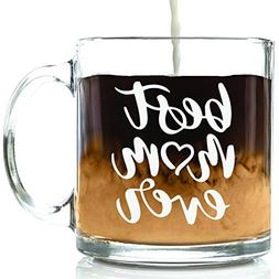 Best Mom Ever Glass Mug - Best Christmas Gifts For Mom, Wome