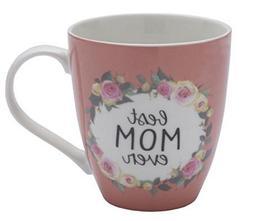 Pfaltzgraff Best Mom Ever Pink Floral Coffee Mug - Large 18