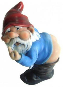 Funny Guy Mugs Mooning Gnome Statue For Home Garden Office