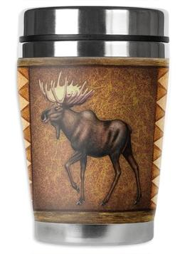 "Mugzie Moose Tapestry ""Mini"" Travel Mug with Insulated Wetsu"