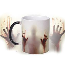FILY Morphing Mugs,Magical Walking Dead Heated Color Chang
