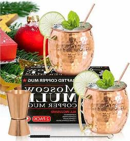 Moscow Mule Copper Mugs - Set of 2-100% HANDCRAFTED – Food