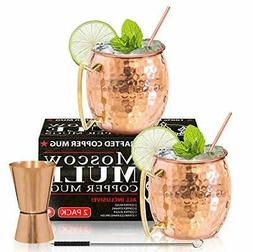 Moscow Mule Copper Mugs - Set of 2-100% HANDCRAFTED - Food S