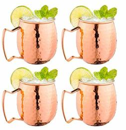 Moscow Mule Copper Mugs w/Handles  Classic Drinking Cup Set