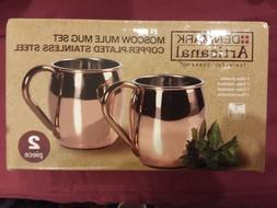 Moscow Mule Mug Set of 2, Copper Plated, NEW