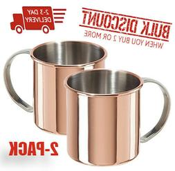 MOSCOW MULE MUGS  copper plated stainless steel unbeatable s