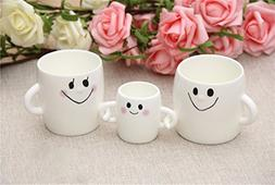 Mothers Day Gift,3 Pcs Family Mugs Mom Dad & Baby Coffee W