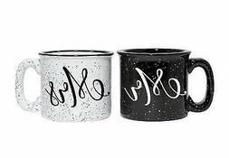 Mr and Mrs Couples Camping Ceramic Coffee Mug Set 15oz - Uni
