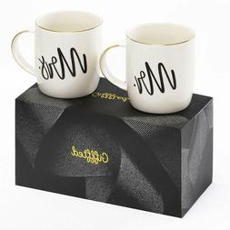 Mr and Mrs Coffee Mugs,Couple Gifts For Anniversary,Engageme