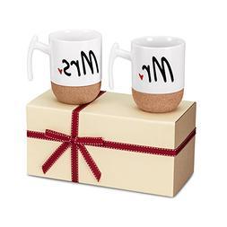 Zi-Rui Mr and Mrs Ceramic Coffee Mugs Set of 2 - Novelty Mr