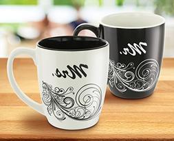 KOVOT Mr. and Mrs. Coffee Mug Set - Each Mug Holds 18 Ounces