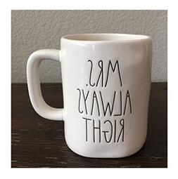 Rae Dunn Mrs. Always Right Coffee Mug Artisan Collection by