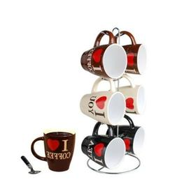Home Basics MS01479 Mug Set with Stand ONLY 4 MUGS Free ship