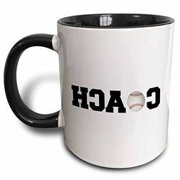 "3dRose mug_192406_4""Coach, black Letters with Baseball On Wh"