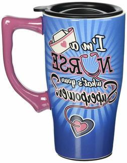 """Spoontiques """"Nurse"""" Travel Mug, Multicolor"""
