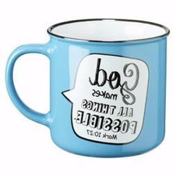 Christian Art Gifts Mug-All Things Possible-Speech Bubble -
