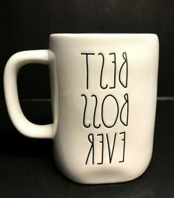 "Rae Dunn Mug, Artisan Collection ""BEST BOSS EVER"" Mug -"