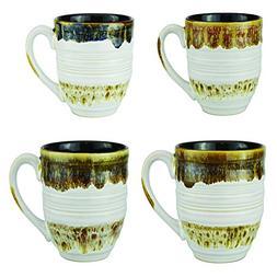 Mug Set of 4 Coffee Mugs Tea Cups - Large 20 Ounce Ceramic H