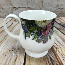 Mug Cup Coffee Tea Cottage Garden Zinnia Lily of the Valley