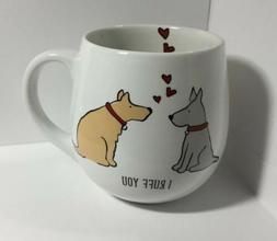 Mug / Dogs / Love / I Ruff You -  Porcelain 16 Oz Dishwasher