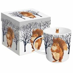 Paperproducts Design Mug In Gift Box Featuring Winter Squirr