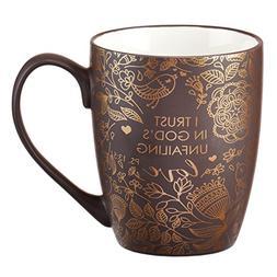 Mug - I Trust in God's Unfailing Love Matte Brown Gilded