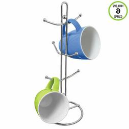 Evelots Mug Holder/Tree/Rack-Sturdy Chrome Metal-Holds 6 Cup