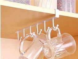 Mug Hooks,Sandistore Coffee Mug Holder,Cups Wine Glasses Sto