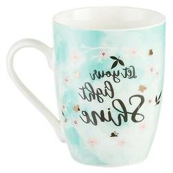 Mug - Let Your Light Shine, White and Green