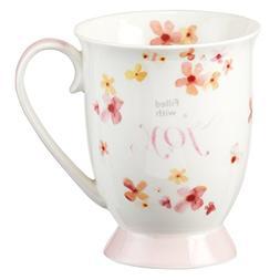 Mug - Filled With Joy Ceramic, White, 12 Ounce