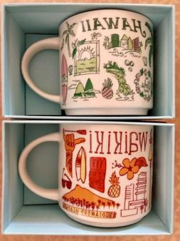 "Starbucks Mug Set Hawaii and Waikiki ""Been There Series"" 14"