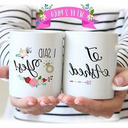Mug Set - Newly Engaged Mugs, I Asked I Said Yes Coffee Mug