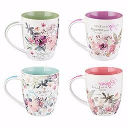Christian Art Gifts Mug Set-Rejoice