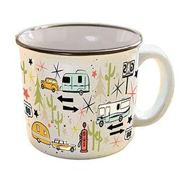 The Mug Camp Casual Wanderlust White Small Coffee Mug CC-004