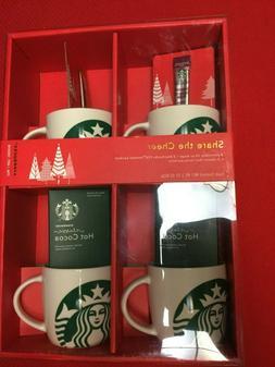 Starbucks Mugs 4 x 14 oz. Porcelain Coffee Mug Gift Set-- NI