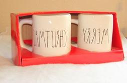 Rae Dunn Set of 2 Mugs MERRY CHRISTMAS - Artisan Collection