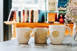 Mugs: Prodigal Pottery - Bee Mug // Support a Non-Profit Soc