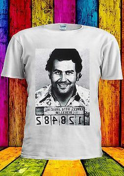 Mugshot Cocaine Pablo Escobar T-shirt Vest Tank Top Men Wome