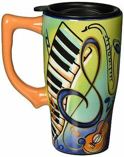 Spoontiques Music Travel Mug, Multi Colored New