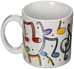 Music Notes Ceramic Mug