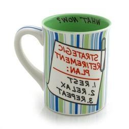 "Our Name is Mud ""Retirement Plan"" Stoneware Mug, 16 oz."
