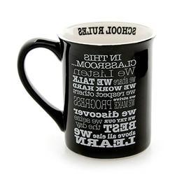 Our Name is Mud School Rules Stoneware Mug, 16 oz.