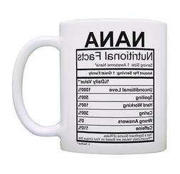 Nana Coffee Mug Nana Nutritional Facts Nana Birthday Gifts C