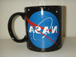 NASA Coffee Mug Tea Cup 20 oz Black Ceramic Pottery Microwav