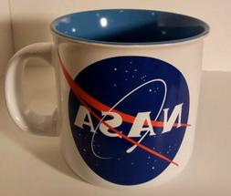 NASA Coffee Mug Tea Cup 20 oz White Ceramic Pottery Microwav