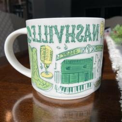 Starbucks Nashville Been There Series Ceramic Coffee Mug, 14